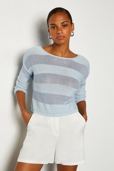 Light blue Stitch Stripe Jumper