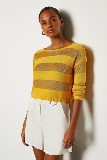 Yellow Stitch Stripe Jumper