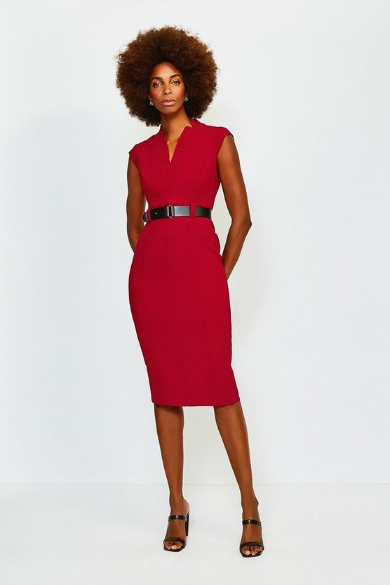 Red Forever Cap Sleeve Dress