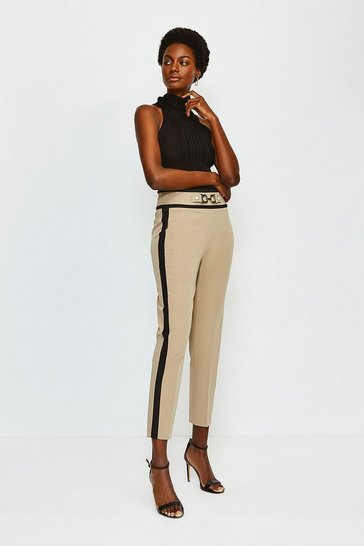 Camel Utility Snaffle Trim Trousers