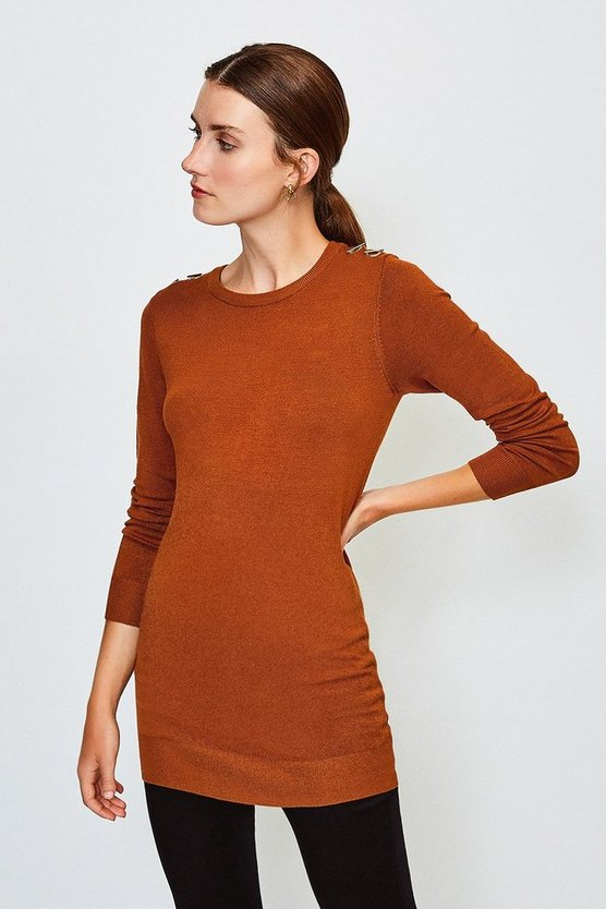 Cashew Trim Detail Knitted Tunic