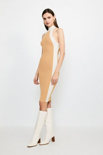 Knitted Rib Mono Dress