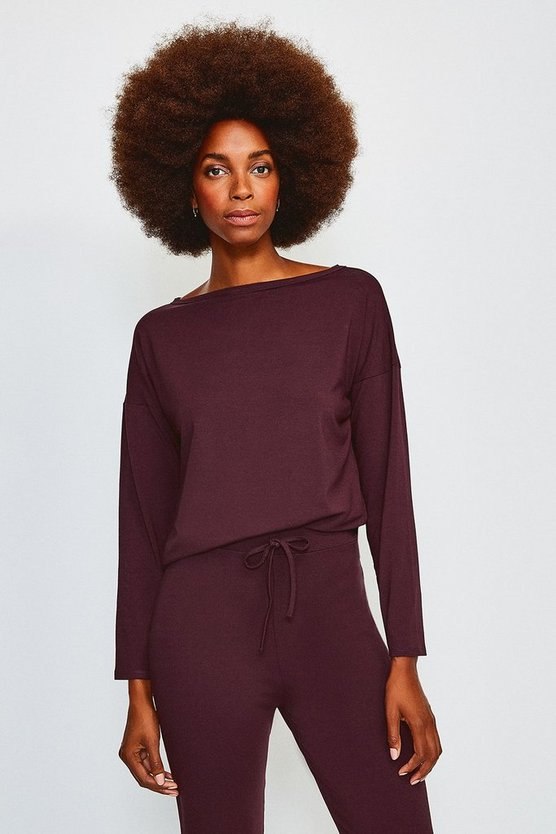 Fig Lounge Batwing Viscose Jersey Top