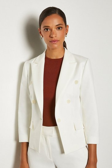 Ivory 3/4 Sleeve Occasion Jacket