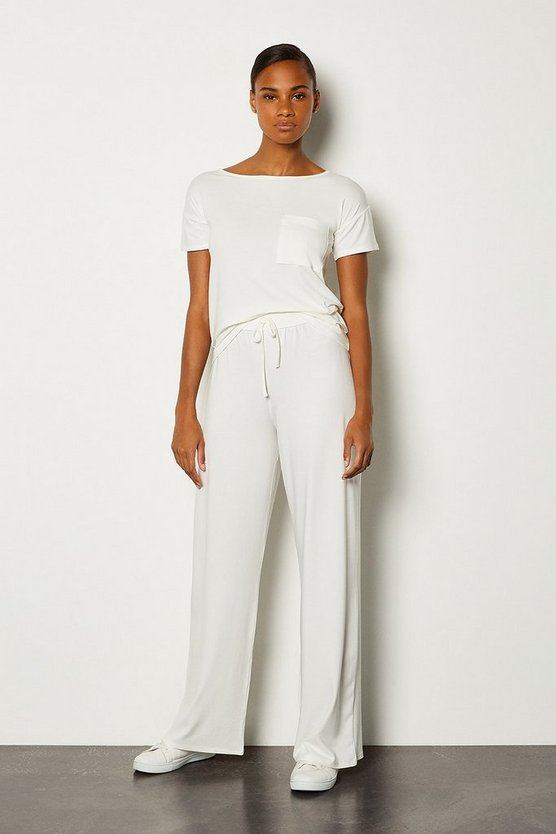 Ivory Lounge Viscose Wide Leg Pant