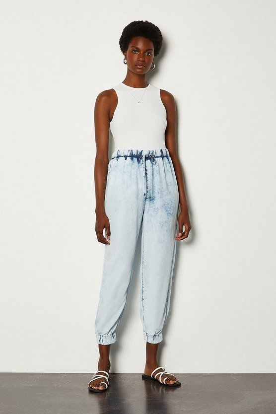 Blue Acid Wash Jogger