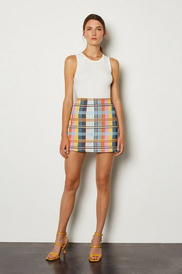 Multi Checked Skirt