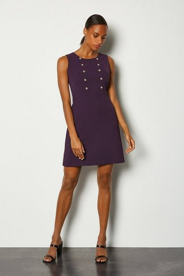 Aubergine Soft Military Day Dress