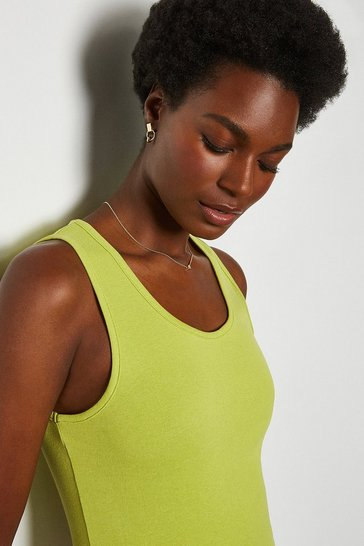 Lime Sleeveless T-Shirt