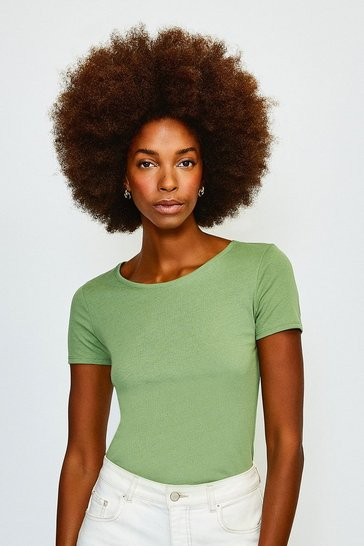 Bright green Jersey Crew Neck T-Shirt