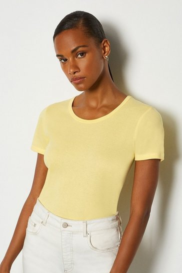 Lemon Jersey Crew Neck T-Shirt