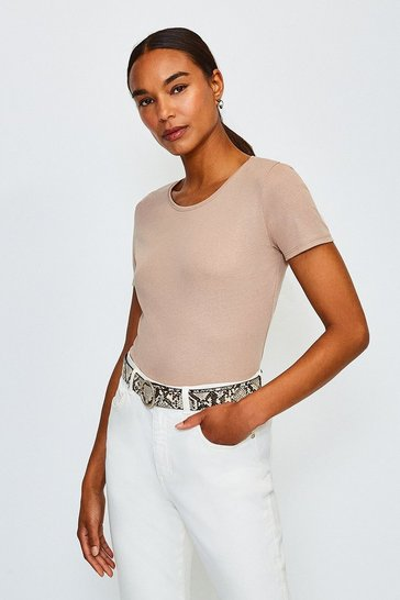Taupe Crew Neck T-Shirt
