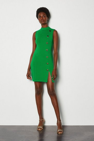 Bright green Rivet Ponte Dress