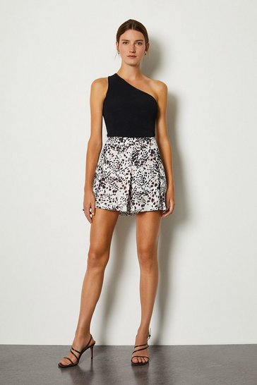 Animal Print Woven Flippy Shorts