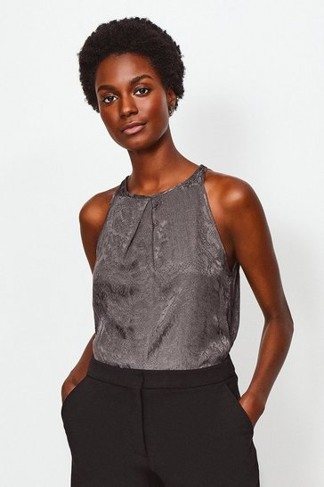 Grey Animal Jacquard Cami