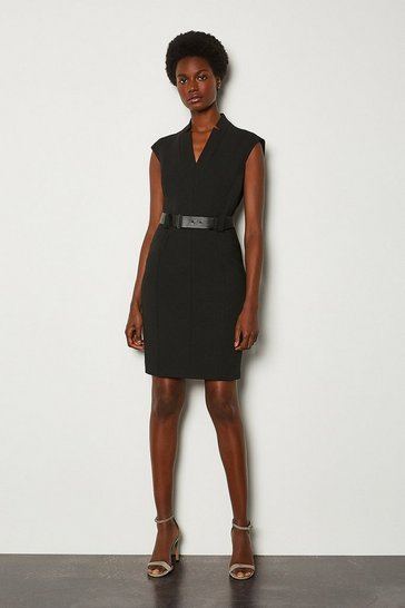 Black Forever Cap Sleeve Short Dress