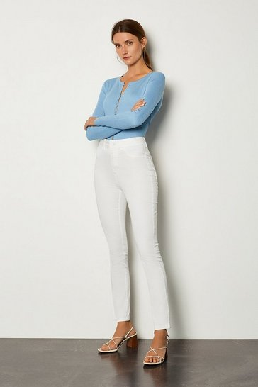 White Skinny Cotton Regular Jean