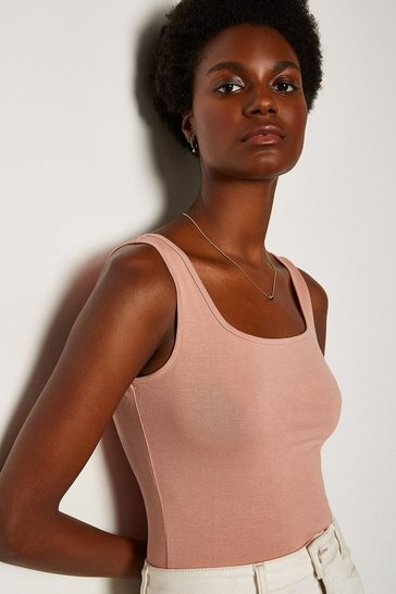 Blush Square Neck Bodysuit