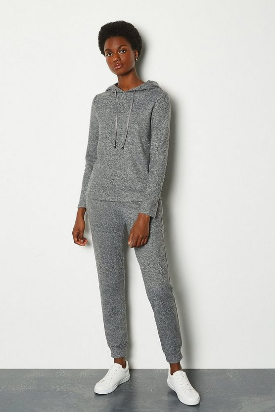 Grey Soft Touch Cuff Hem Jogger