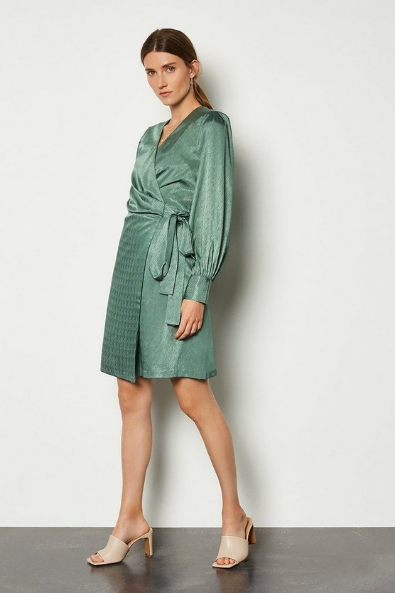 Green Roleaux Dress
