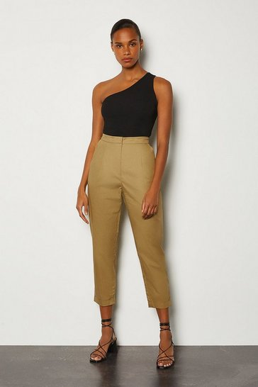 Stone Cotton Poplin Trouser