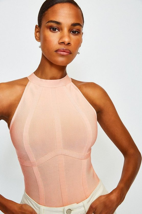Peach Racer Bandage Top