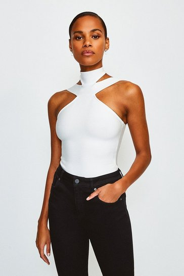 White Double Strap Bandage Top