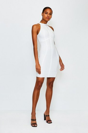 White Racer Bandage Dress