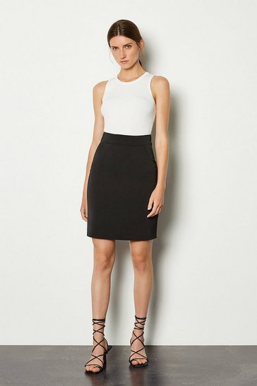 Black Short Utility Skirt