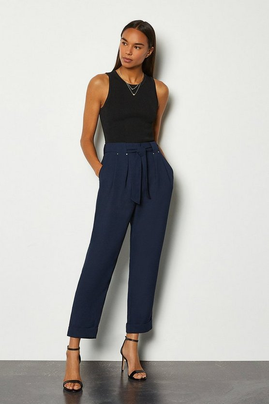 Navy Panelled Utility Trouser