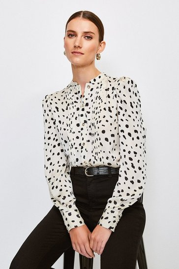 Nude Long Sleeve Spot Shirt