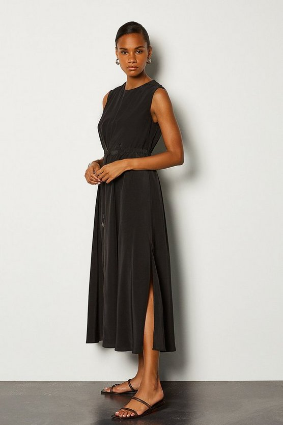 Black Tie Waist Dress