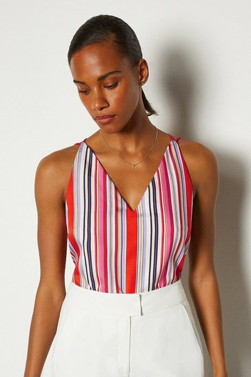 Multi Striped Strappy Cami
