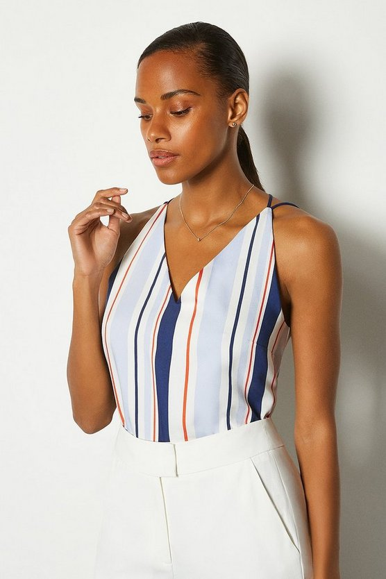 Stripe Striped Strappy Cami