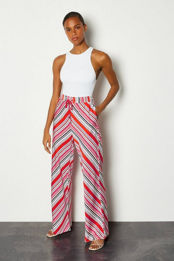 Multi Striped Palazzo Trousers
