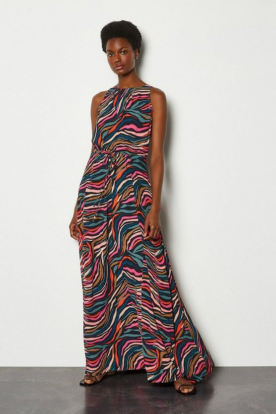 Animal Long Batik Print Dress