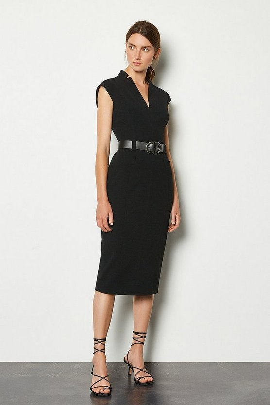 Black Forever Cap Sleeve Dress