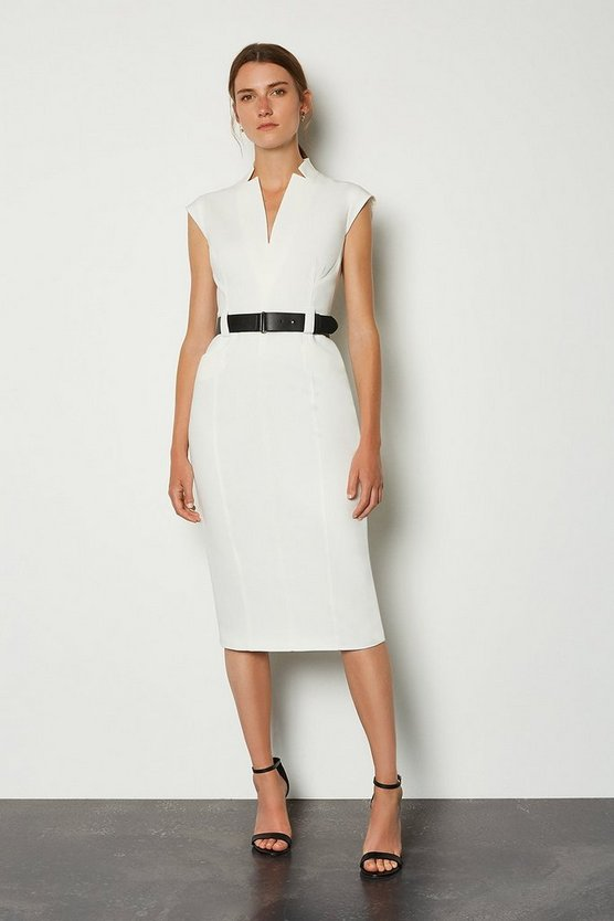 Ivory Forever Cap Sleeve Dress