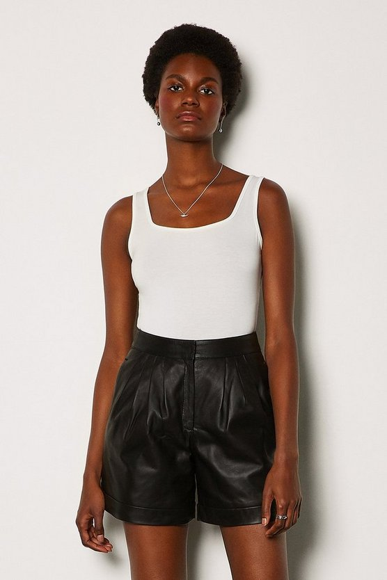 Black Leather Short