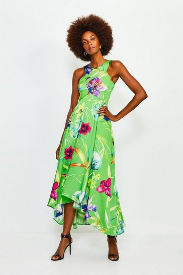 Green Floral Printed Dress