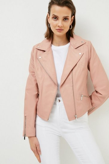 Blush Leather Signature Biker Jacket