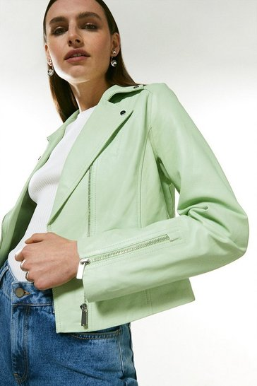 Mint Leather Signature Biker Jacket