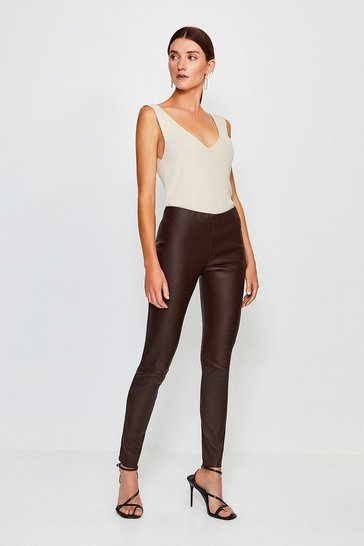 Fig Stretch Leather Legging