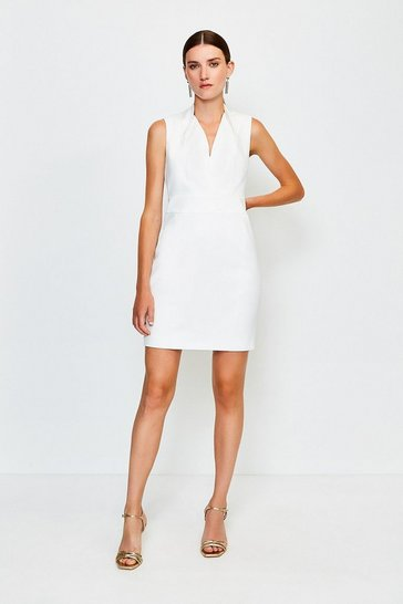 Ivory Cut Out Back Mini Dress