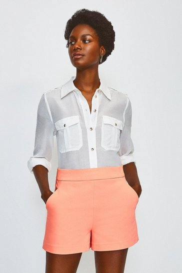 Apricot Safari Cotton Sateen Short