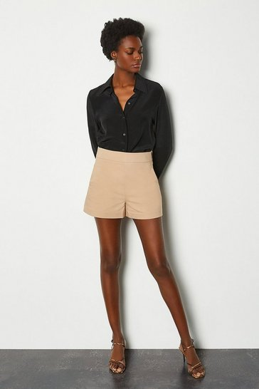 Stone Safari Cotton Sateen Short