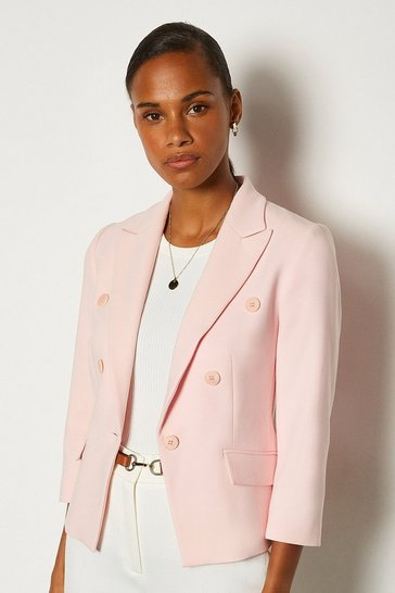 Blush 3/4 Sleeve Occasion Jacket
