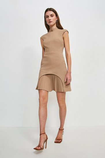 Camel Military Tailored Dress