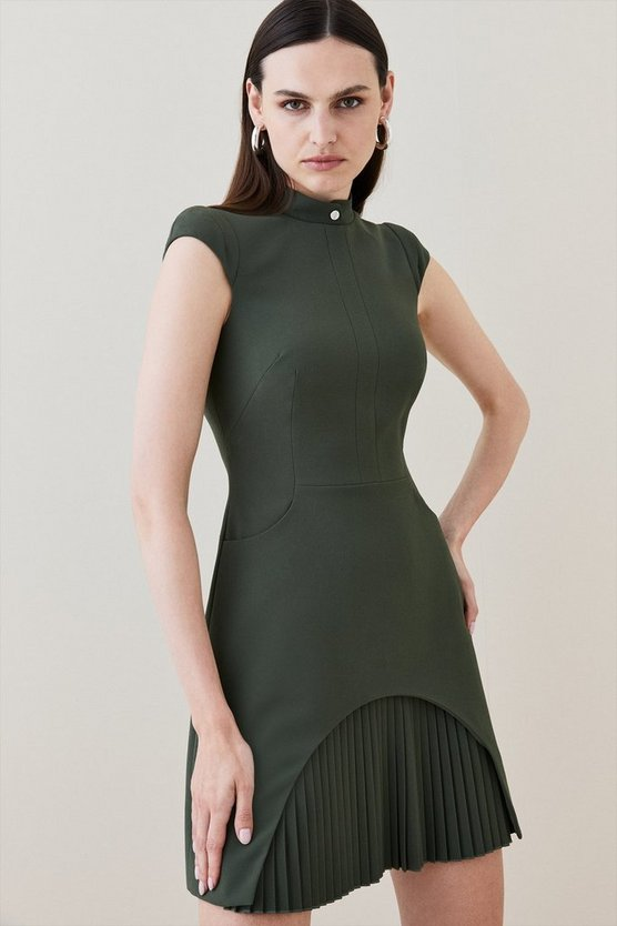 Khaki Military Tailored Dress