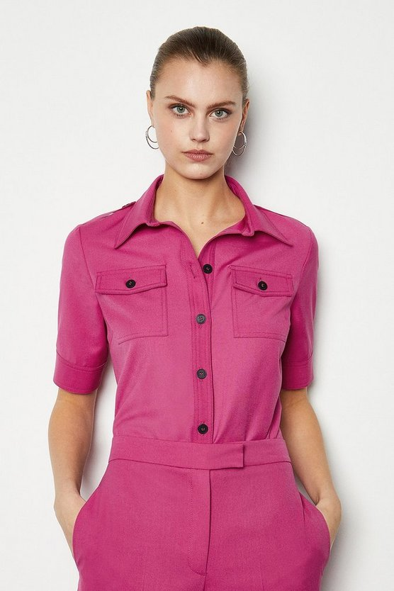 Fuchsia Tailored Shirt